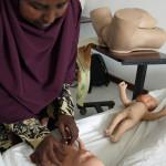 Opetusluokka synnytyssairaalassa Somalimaassa