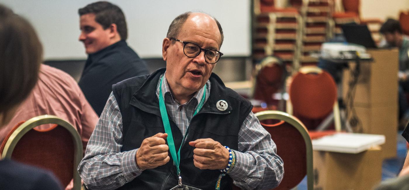 Heikki Kastemaa konferenssissa