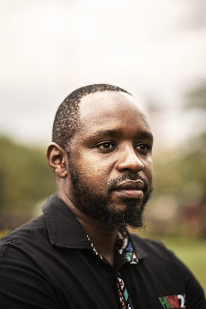 Kenialainen aktivisti Bomiface Mwangi