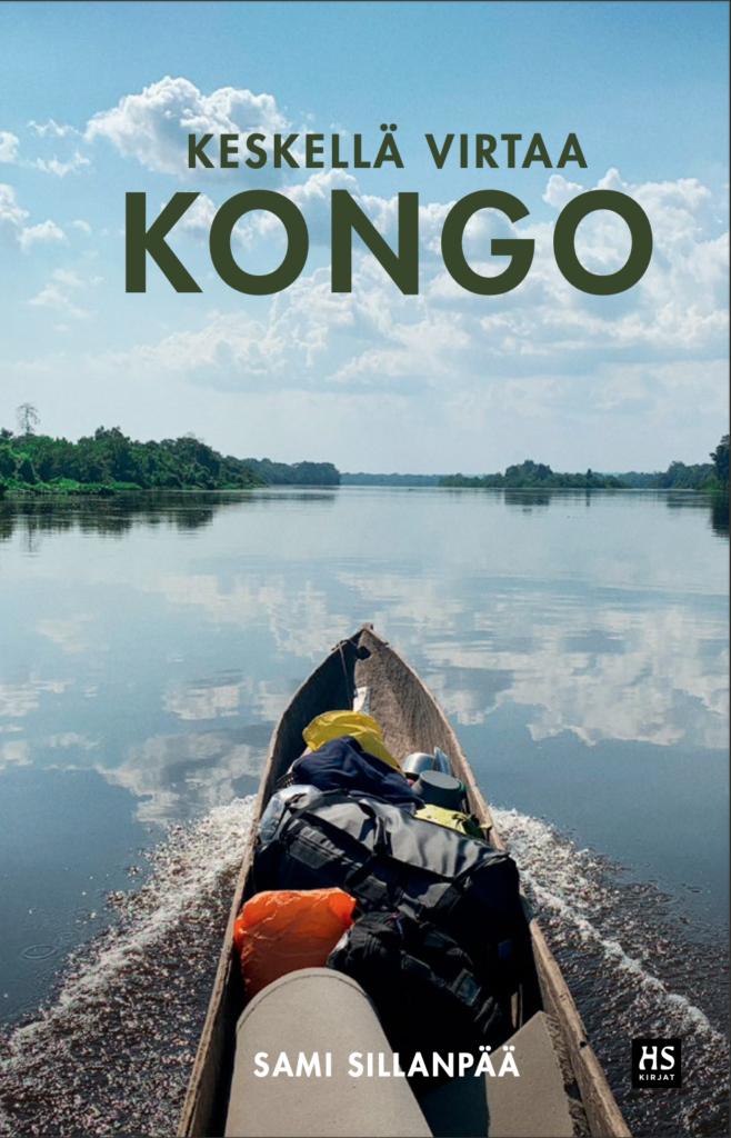 Kirjankansi, jossa kanootti ja jokimaisema